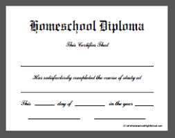 ged template homeschool high school diploma templates