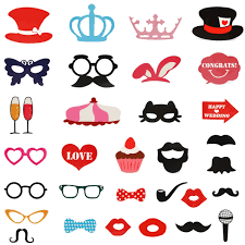 wedding photo props 31pcs photo mustache stick booth wedding prop welcome mask props