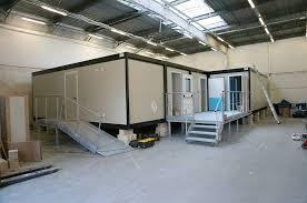 bureau modulaire interieur installation de préfabriqués en intérieur bâtiments modulaires