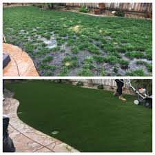 discovery bay ca backyard synthetic grass before u0026 after