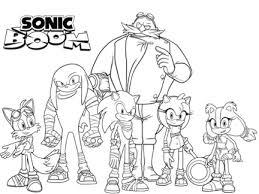 Léquipe de Sonic Boom  Coloriages  Goodies  Sonic Boom  Dessins