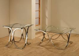 Glass Coffee Table Set Benjamin Silver Glass Coffee Table Steal A Sofa Furniture Outlet