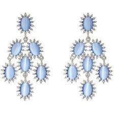 Aegean Chandelier Earrings Turquoise Blue Silver Chandelier Earrings Polyvore