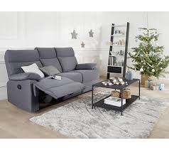 but canap canapé 3 places 2 relax manuel jodie tissu gris bleuté canapés but