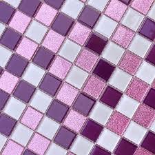 crystal glass mosaic sheets purple wall stickers kitchen