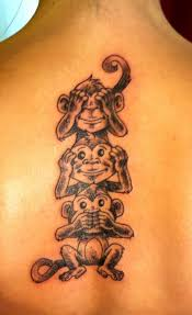 simple evil tattoo collection of 25 no see monkey tattoo