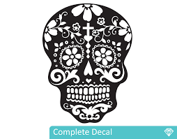 day of the dead sugar skull your decal shop nz designer wall day of the dead sugar skull