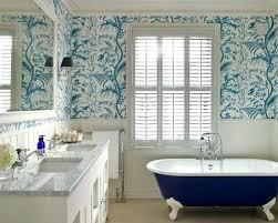 bathroom with wallpaper ideas bathroom wallpaper ideas traditional bathroom in with a claw