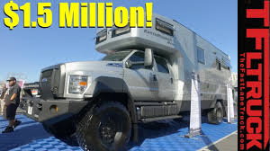 jeep earthroamer the ultimate 1 5 million earthroamer luxury 4x4 rv revealed youtube