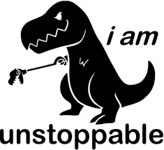 T Rex Meme Unstoppable - am unstoppable t rex funny vinyl decal sticker