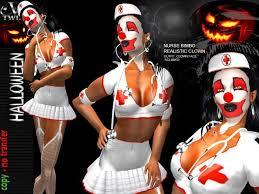Halloween Costume Marketplace Twins Halloween Bimbo Nurse Clown
