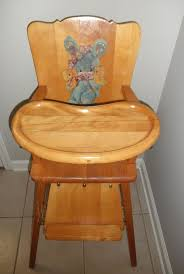 Antique Wooden High Chair Old Wooden High Chair With Wheels Home Chair Decoration
