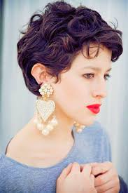 2017 cute short hairstyles for curly hair with bangs