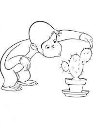 free printable curious george coloring pages cartoon coloring