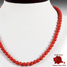 orange beads necklace images Italian coral beads red chain jovon venice jpg