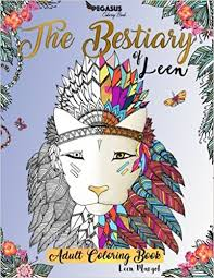 amazon coloring books bestiary leen