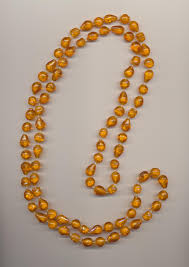 beading necklace lengths images Long yellow amber color plastic imitation bead necklace length 49 jpg