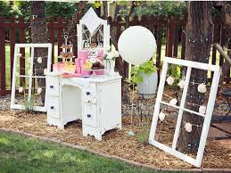 read more vintage pink backyard bridal shower pink centerpieces