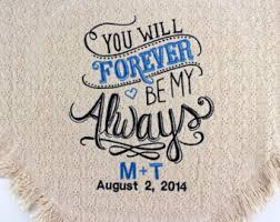personalized wedding blankets anniversary blanket etsy