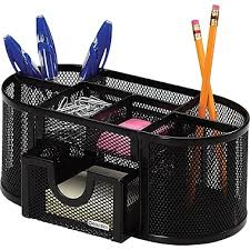 Staples Desk Organizers Rolodex Metal Mesh Oval Supply Caddy Black Staples