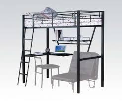black metal twin loft bed with desk senon silver and black metal twin loft bed desk shop for
