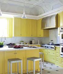 Yellow Kitchen Paint Schemes Yellow Kitchen Cabinet Paint Colors With Marble Backsplash