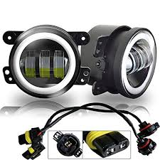 4 inch round led lights ausi white halo ring 4 inch round led fog lights offroad ls front