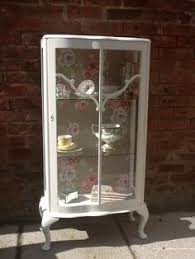 Antique Display Cabinets Ebay Uk Glass Shelved Display Cabinet Hand Painted And By Kitschattic