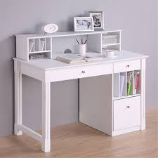desks with storage walker edison deluxe home office writing desk with storage and
