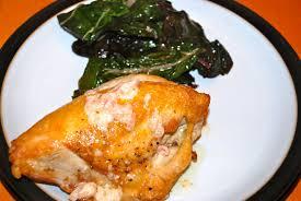ina u0027s chicken with shallots sauteed chard and ina u0027s blue cheese
