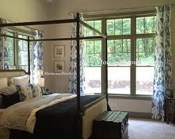 Designer Window Curtains Indigo Curtains Etsy