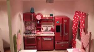 18 Inch Doll Kitchen Furniture by The Fascinating American Girl Doll House Tour 2013 Raw Youtube