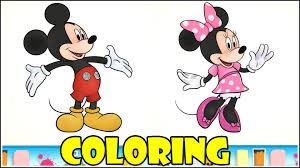 mickey mouse minnie mouse summer season 3d coloring video disney