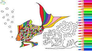 fish coral coloring pages for kids youtube