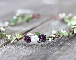 wedding flower wedding flower crown etsy