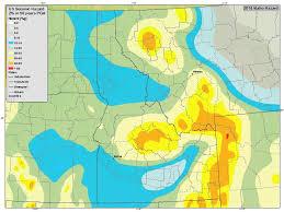 earthquake hazard map information by region idaho