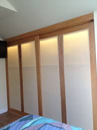 Interior Crawl Space Access Door by Cheap Finished Crawl Space Closet With Oak Sliding Doors