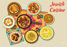jüdische küche jüdische küche koscher abendessen symbol mit rindfleisch
