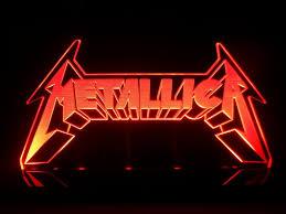 metallica logo heavy metal rock led desk lamp night light beer bar