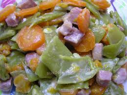 cuisiner des haricots plats poêlée d haricots plats et carottes aux dés de jambon light