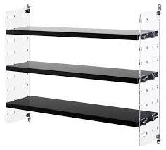 string plex pocket shelf black shelves clear perspex by string