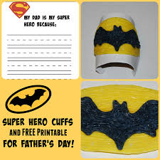 father u0027s day superhero cuff craft for kids wikki stix