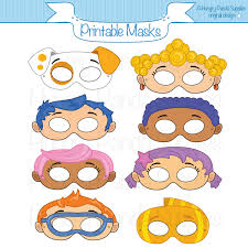 Printable Halloween Masks For Children by Mermaid Printable Masks Fish Mask Kids Party Masks Guppy