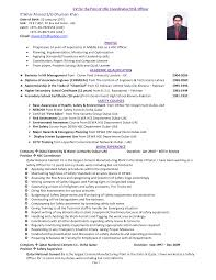 Sample Resume Objectives For Trades by Safety Advisor Sample Resume Computer Systems Engineer Sample