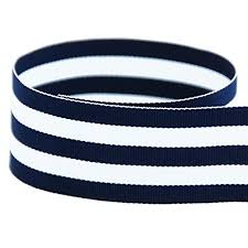 blue and white striped ribbon 1 1 2 navy white taffy striped grosgrain ribbon