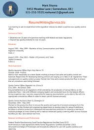 Best Resume Format For Quality Assurance by Quality Control Officer Resume Sample Resume Writing Service