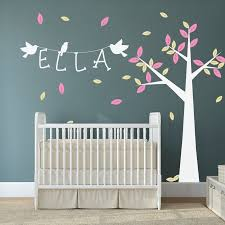 Ideas For Baby Rooms Wall Art Decor Birch Tree Wall Art Stickers Nursery Personalized