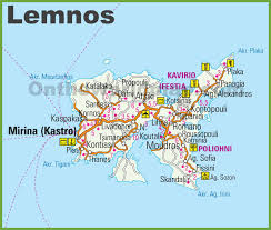 Map Greece by Lemnos Maps Greece Maps Of Lemnos Island