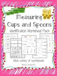 2 fun worksheets on using liquid measuring cups for the