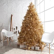Gold White Christmas Tree Classic Champagne Gold Full Pre Lit Christmas Tree Hayneedle